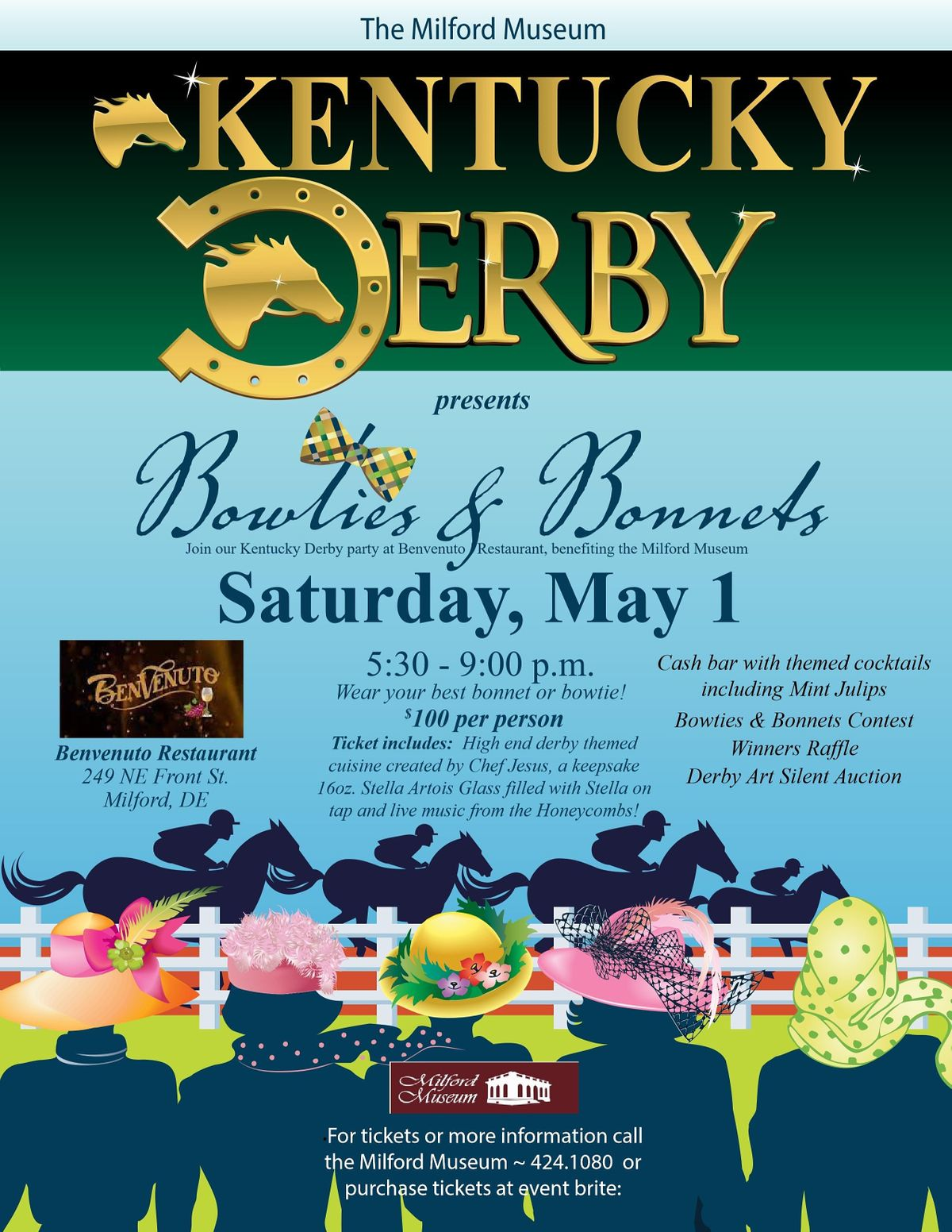 Kentucky Derby Bowties and Bonnets, Benvenuto, Milford, May 25 20225 ...