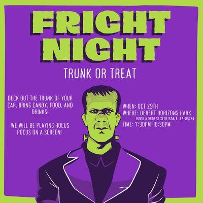 Fright Night Trunk or Treat