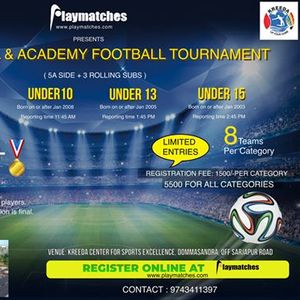 Playmatches presents Inter School & Academy Football Tournament