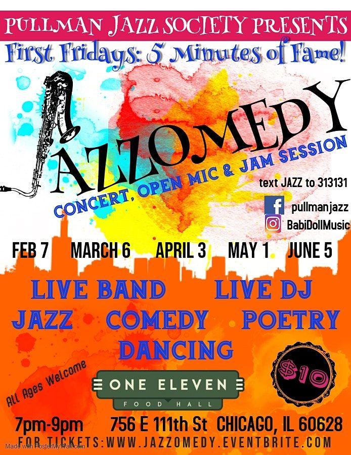 Pullman Jazz Society Presents Jazzomedy First Fridays 5 Minutes of Fame