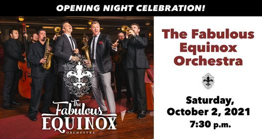 Opening Night with The Fabulous Equinox Orchestra / Opening Act: Ted Yoder Band, 2 October | Event in Whitewater