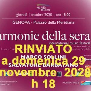 Domenica 29 Novembre 2020 ore 18 concerto di pianoforte a 4 mani