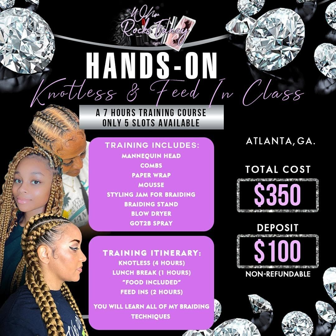 Copy of Knotless & Feed In Braids + Business Class, 24 October | Event in Atlanta | AllEvents.in