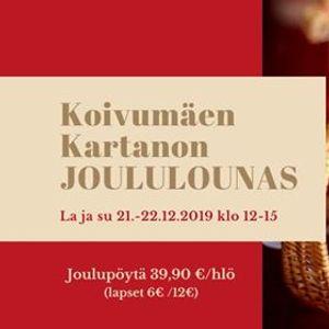 Kartanon joululounas la ja su 21-22.12.2019