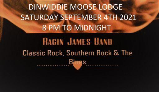 Ragin' James at Dinwiddie Moose Lodge., 4 September | Event in Petersburg | AllEvents.in