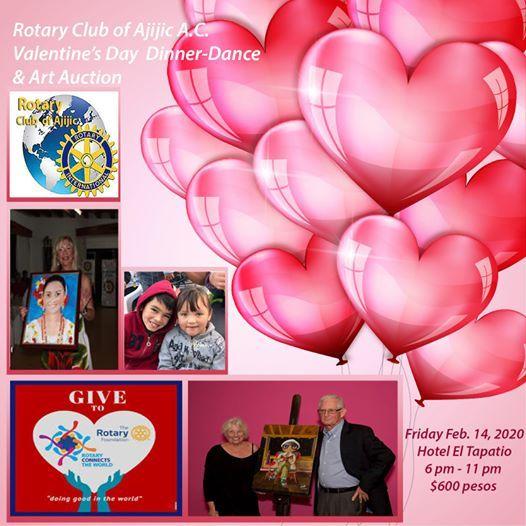 Valentines Day Art Auction Subasta De Arte At Hotel El