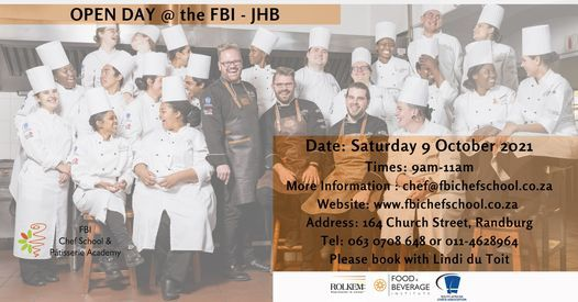 Open Day at FBI Chef School, 9 October | Event in Roodepoort | AllEvents.in