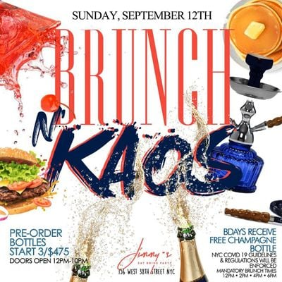 Sunday Brunch and Day Party at Jimmys NYC  LBN
