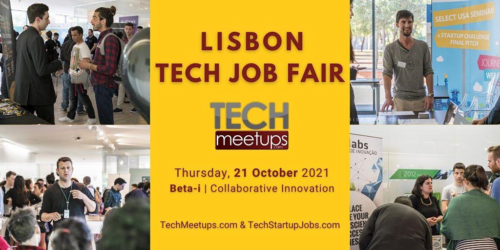 Lisbon Tech Job Fair  2021 by Techmeetups, 21 October | Event in Lisbon | AllEvents.in