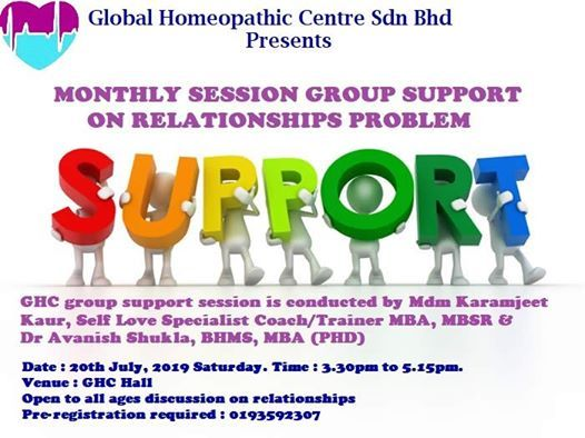 Free Monthly Group Support Session On Relationships Problem