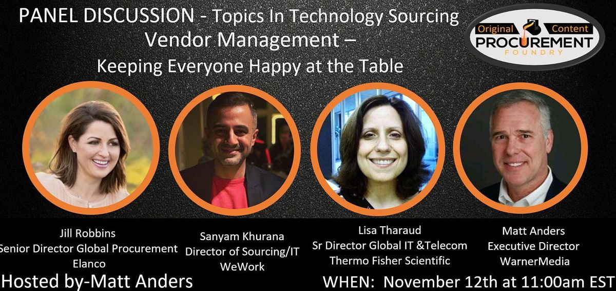Topics in Technology Series - Vendor Management, 12 November | Online Event | AllEvents.in