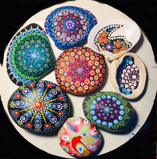 Rock Dot Mandala at The Goddess of Glass & Friends, your