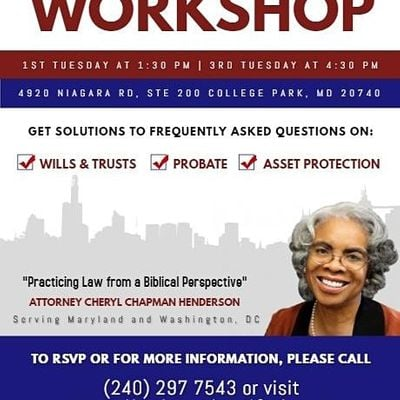 Your Authority Your Estate Plan Workshop