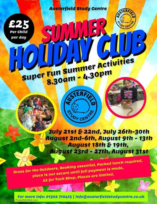 Summer Holiday Club, 31 August | Event in Doncaster | AllEvents.in
