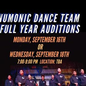NuMonic Dance Team 2019-2020 Auditions