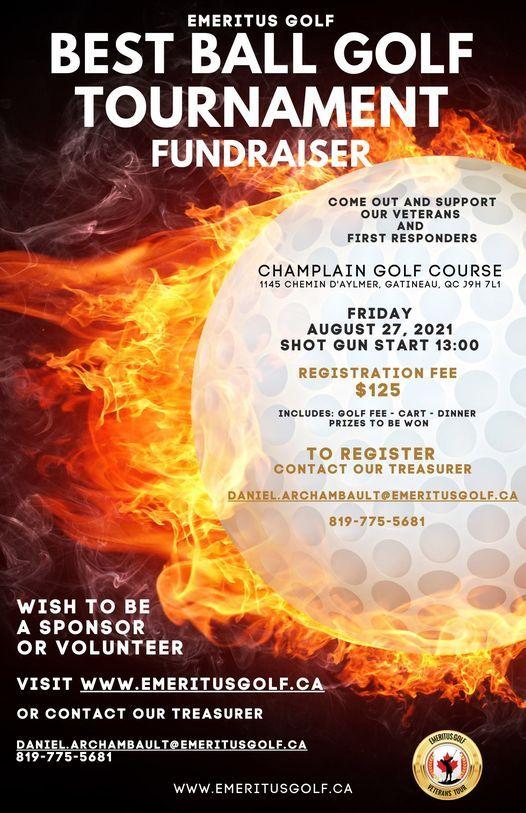 Emeritus Golf Best Ball Golf Tournament Fundraiser, 27 August   Event in Gatineau   AllEvents.in