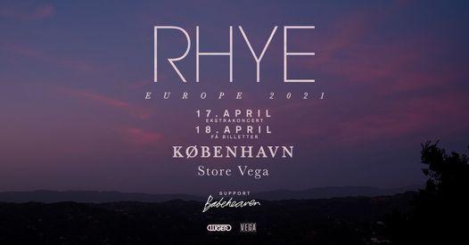 RHYE [Support: Babeheaven] - Store VEGA, 17 April | Event in Copenhagen | AllEvents.in