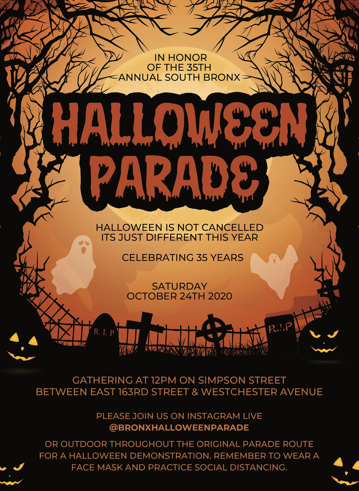 Westchester Halloween Parade 2020 When 35th Annual South Bronx Halloween Parade 2020, Simpson Street