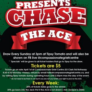 Compassionate Grief Centre Presents Chase the ACE-Sponsored by Tipsy Tomato and Oldies 96