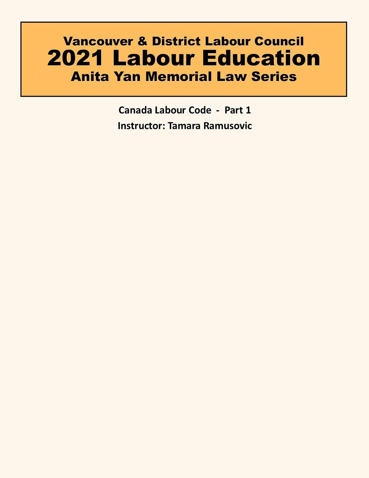 Canada Labour Code - Part 1, 10 May | Event in Vancouver | AllEvents.in
