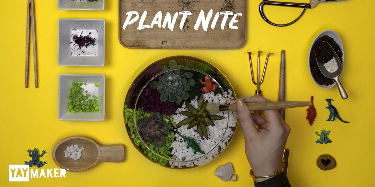 Plant Nite: Make a Succulent Terrarium, 29 November | Event in New York | AllEvents.in