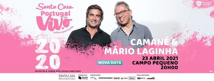 NOVA DATA: CAMANÉ E MÁRIO LAGINHA - SANTA CASA PORTUGAL AO VIVO, 9 April   Event in Lisbon   AllEvents.in