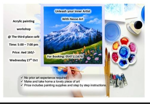 Mountain View Acrylic painting workshop, 27 October   Event in Abu Dhabi   AllEvents.in