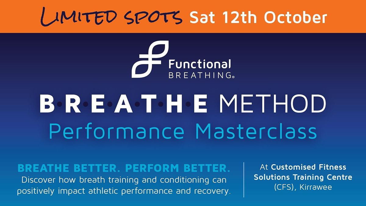 Functional Breathing - Performance Master Class