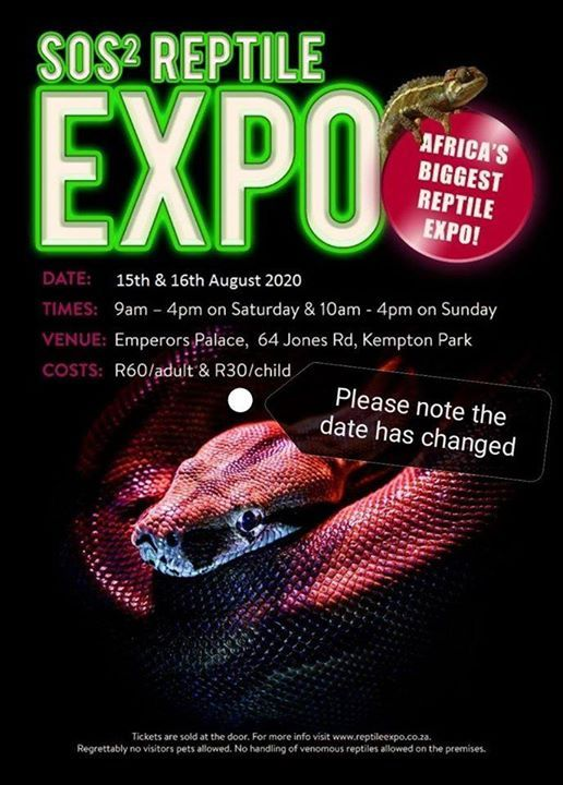 SOS Reptile Expo - New Dates