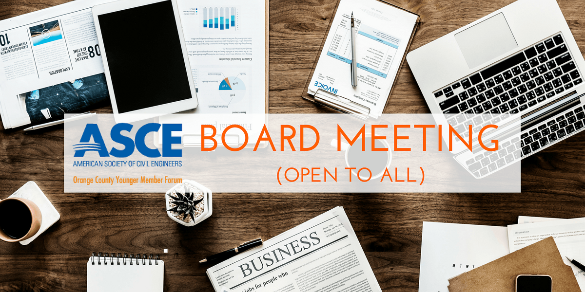 ASCE OC YMF - October 2021 VIRTUAL Board Meeting (OPEN TO ALL)   Event in Irvine   AllEvents.in