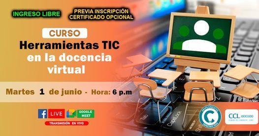 Curso Gratuito : Las Herramientas TIC en la Docencia Virtual, 1 June   Event in Lince   AllEvents.in