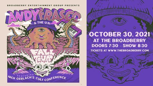 Andy Frasco & the UN at the Broadberry on 10/30 presented by WNRN, 30 October | Event in Richmond | AllEvents.in