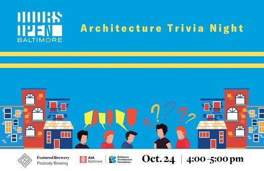 Doors Open Baltimore Architecture Trivia Night, 24 October | Online Event | AllEvents.in