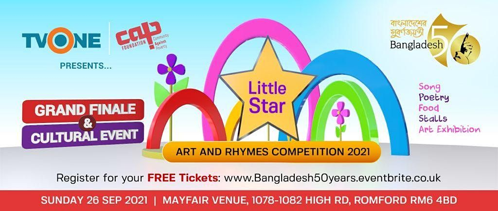 Little Star   Art and Rhymes Celebrating Bangladesh 50 Years, 26 October   Event in Romford   AllEvents.in