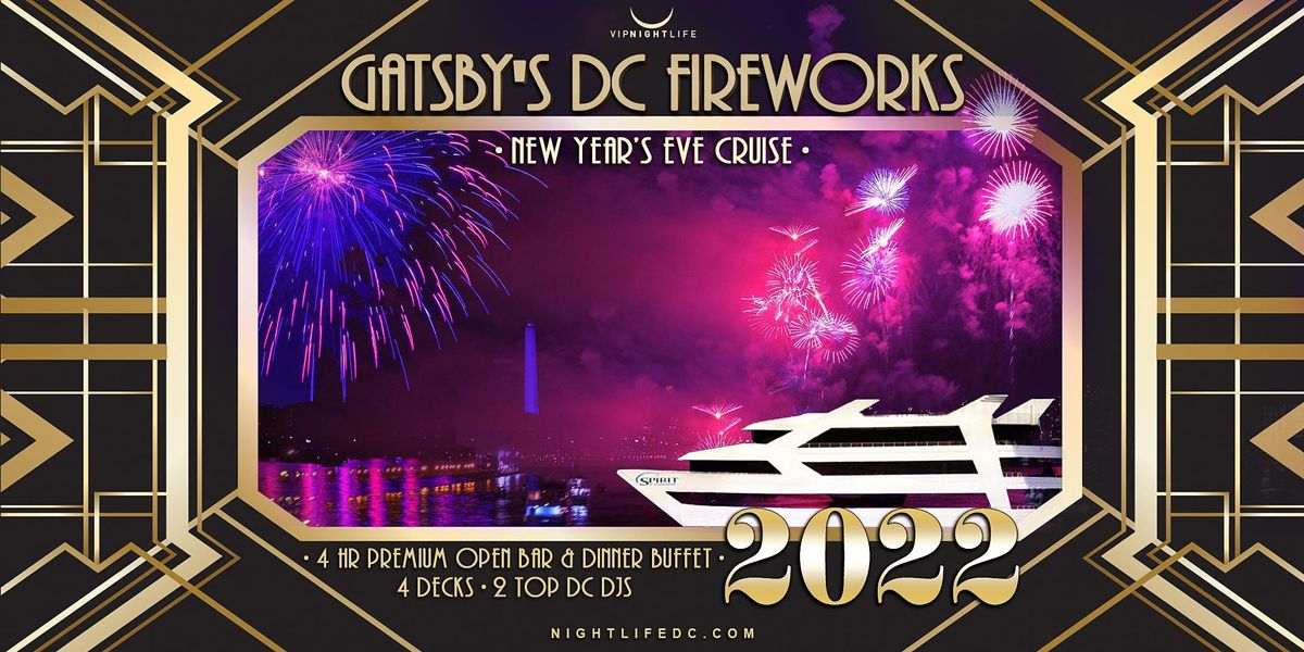 Gatsby's DC Fireworks New Year's Eve Yacht Party 2022, 31 December   Event in Washington   AllEvents.in