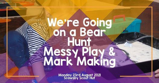 We're Going on a Bear Hunt Messy Play & Mark Making, 23 August   Event in Doncaster   AllEvents.in