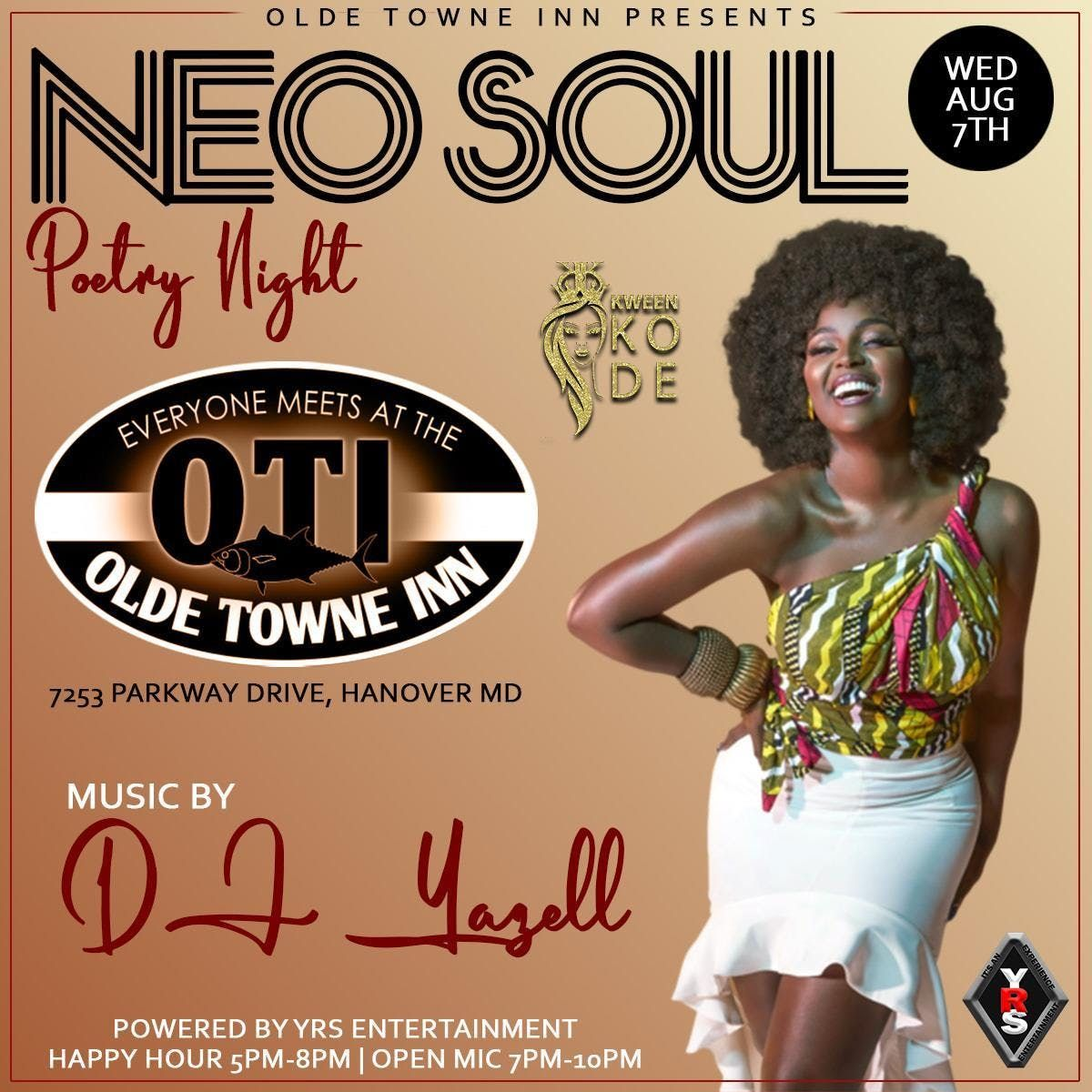 Neo - Soul Poetry Night Open Mic at Clarion Hotel BWI