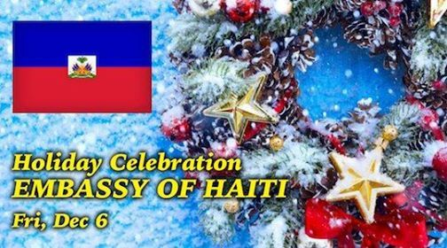 Haitian and Caribbean Holiday Celebration at the Embassy of Hait