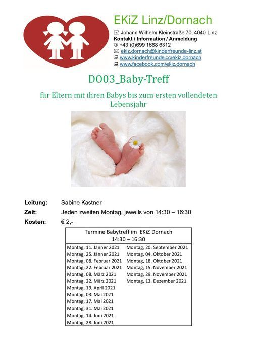 Baby Treff, 25 January | Event in Linz | AllEvents.in