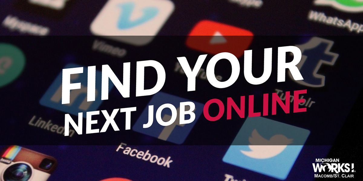 Find Your Next Job Online, 17 December | Event in Mount Clemens | AllEvents.in