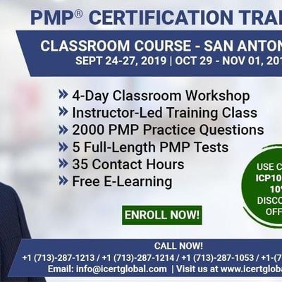 PMP Certification Training Course in San Antonio TX USA  4-Day PMP Boot Camp