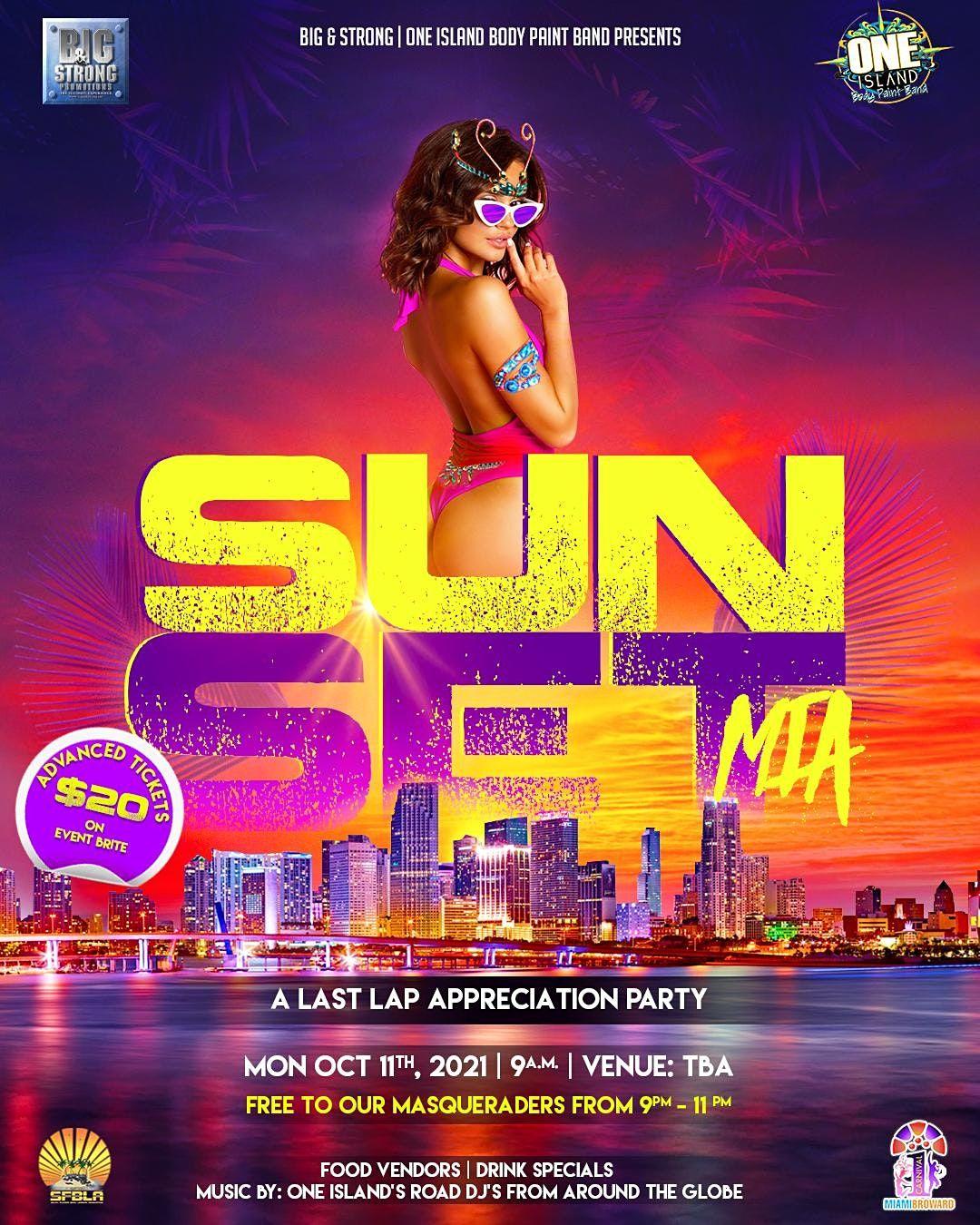 Sunset Mia 2021: A Last Lap Appreciation  Party, 11 October   Event in Miami   AllEvents.in