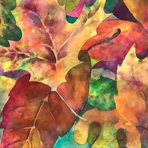 Funky Friday Fall Leaves Watercolors for Adults