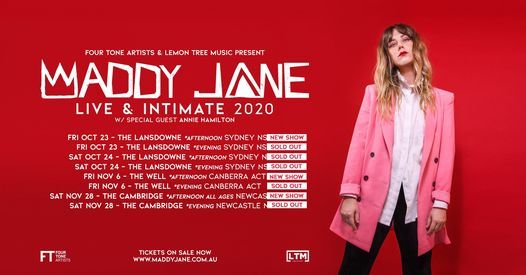 SOLD OUT Maddy Jane | The Lansdowne, Sydney NSW, 23 October | Event in Pyrmont | AllEvents.in