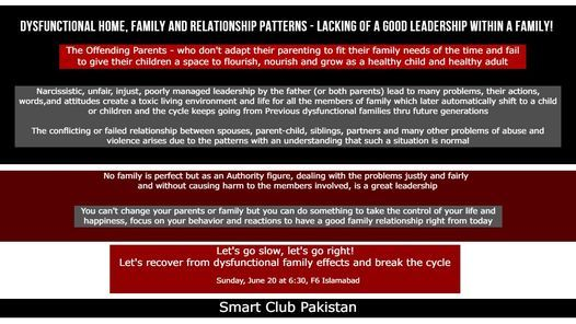 The Father is a Leader in the family - Let's talk about this Role, 20 June | Event in Islamabad | AllEvents.in