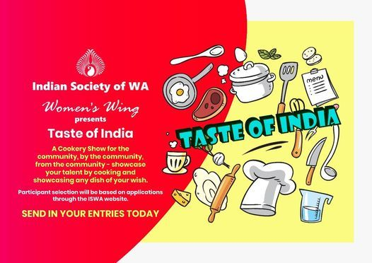 Taste Of India - A Cooking Show By ISWA Women's Wing | Online Event | AllEvents.in