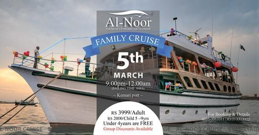 A Perfect Family Dinner Cruise in Pakistan, 5 March | Event in Karachi | AllEvents.in