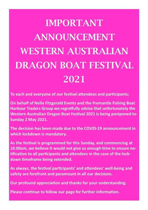 Might of the Dragon! Western Australian Dragon Boat Festival, 2 May | Event in Fremantle | AllEvents.in