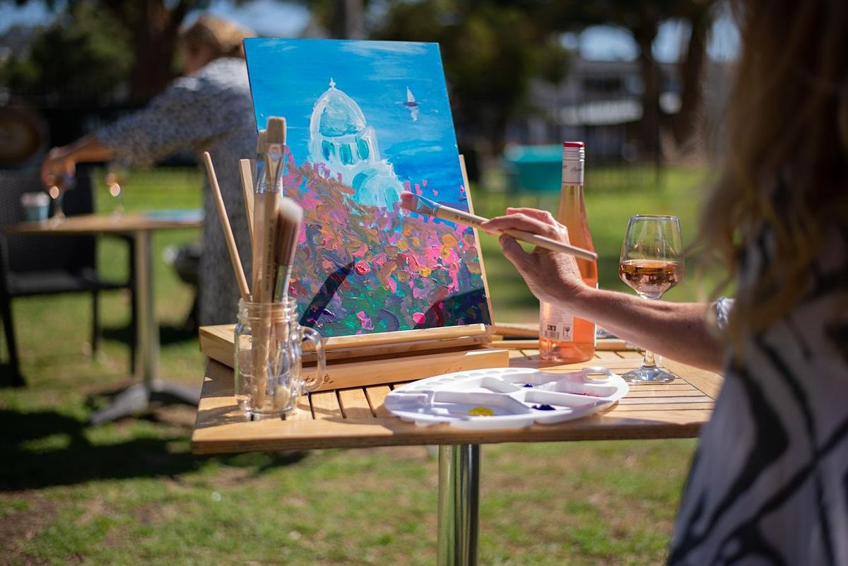 Rose & Renoir   - We paint Santorini-  2 adults for the price of 1-SPECIAL, 7 October | Event in Avoca Beach