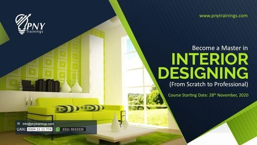 Become a Master in Interior Designing (from Scratch to Pro), 28 November | Event in Gujranwala | AllEvents.in